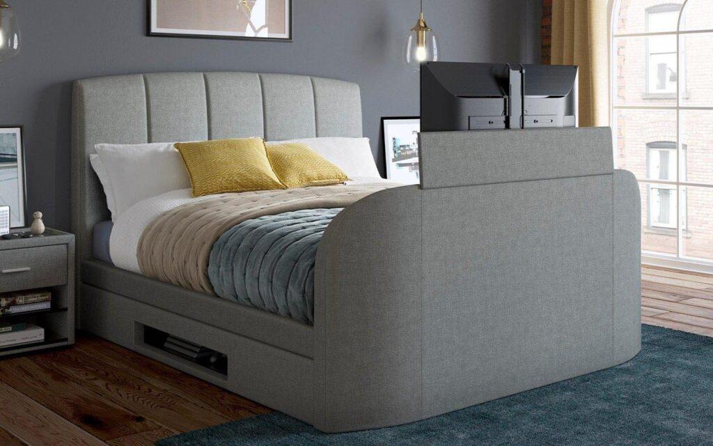 Seoul Upholstered TV Bed