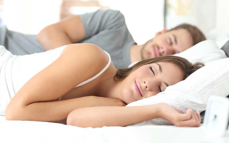 Side Sleeping couple