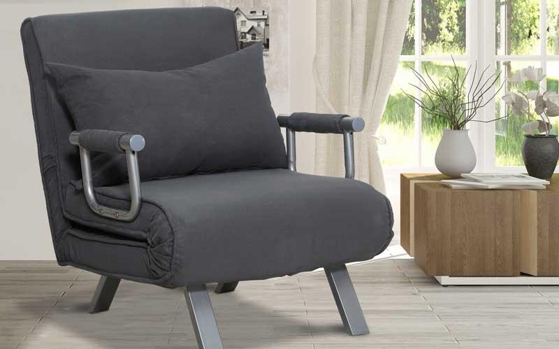 HOMCOM Modern 2-In-1 Design Single Sofa Bed 5 positions