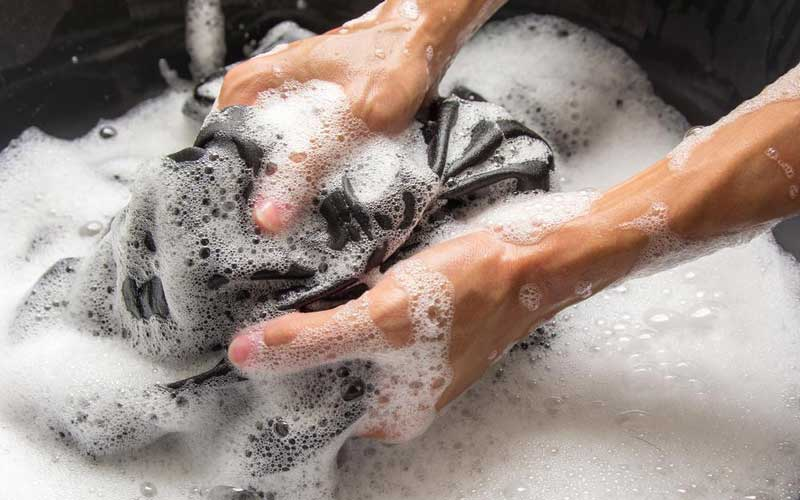 hand wash a weighted blanket