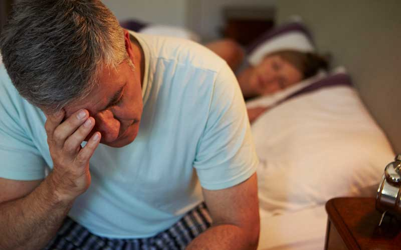 What causes sleep problems when you're older?