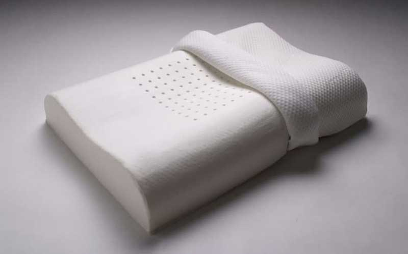 What's a memory foam pillow made of?
