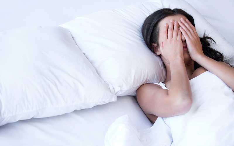 How does stress affect sleep?